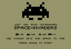 just yer good ol fashioned space invaders